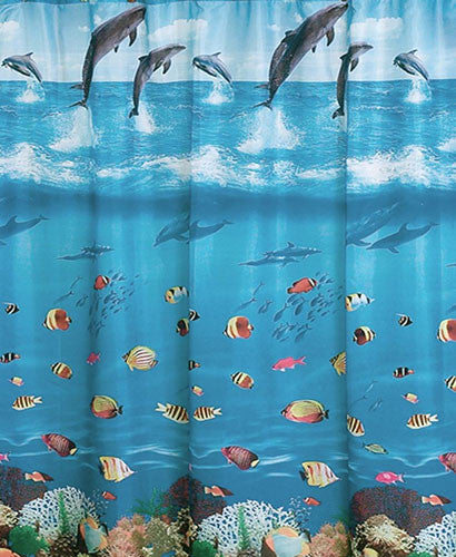Seascape Fabric Shower Curtain