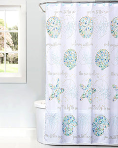 Seaside Blossoms Shower Curtain and Towels