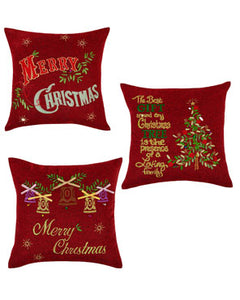 Seasonal Bells Throw Pillow Covers Assortment