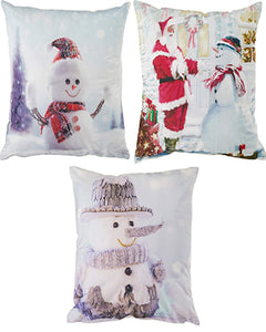 Seasonal Snowed Throw Pillow Covers