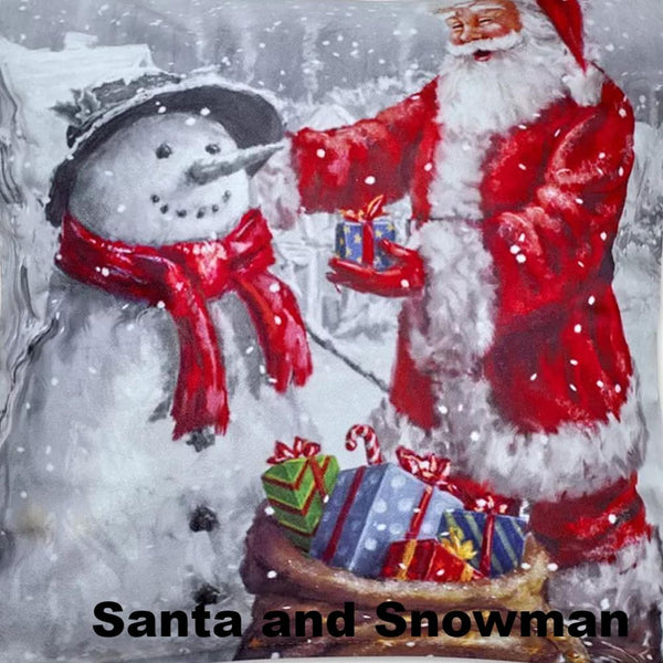 Seasonal Splendor Valance Assortment Santa and Snowman
