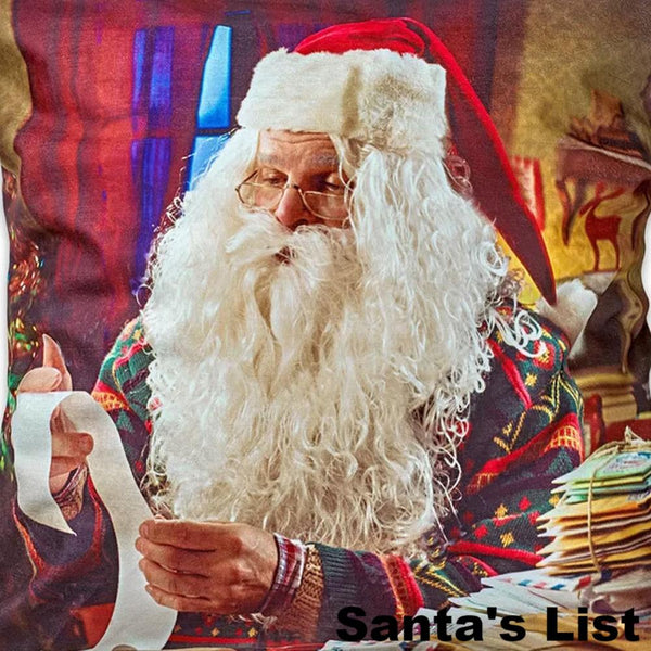 Seasonal Splendor Valance Assortment Santa's List