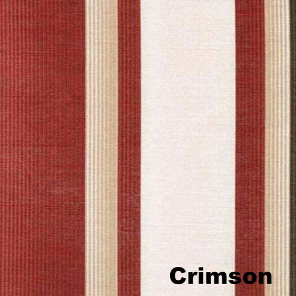 Closeup of Crimson Serene Striped Grommet Top Panels fabric