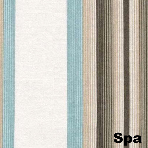 Closeup of Spa Serene Striped Grommet Top Panels fabric