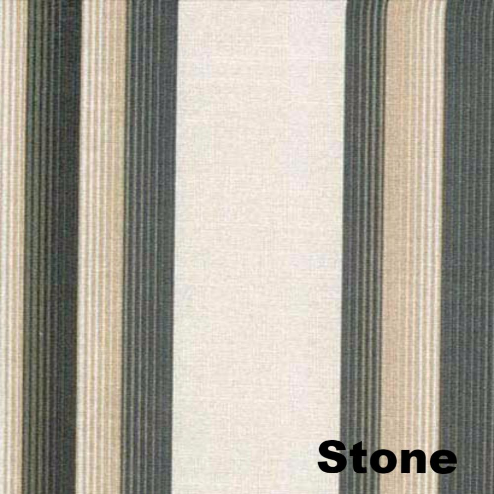 Closeup of Stone Serene Striped Grommet Top Panels fabric