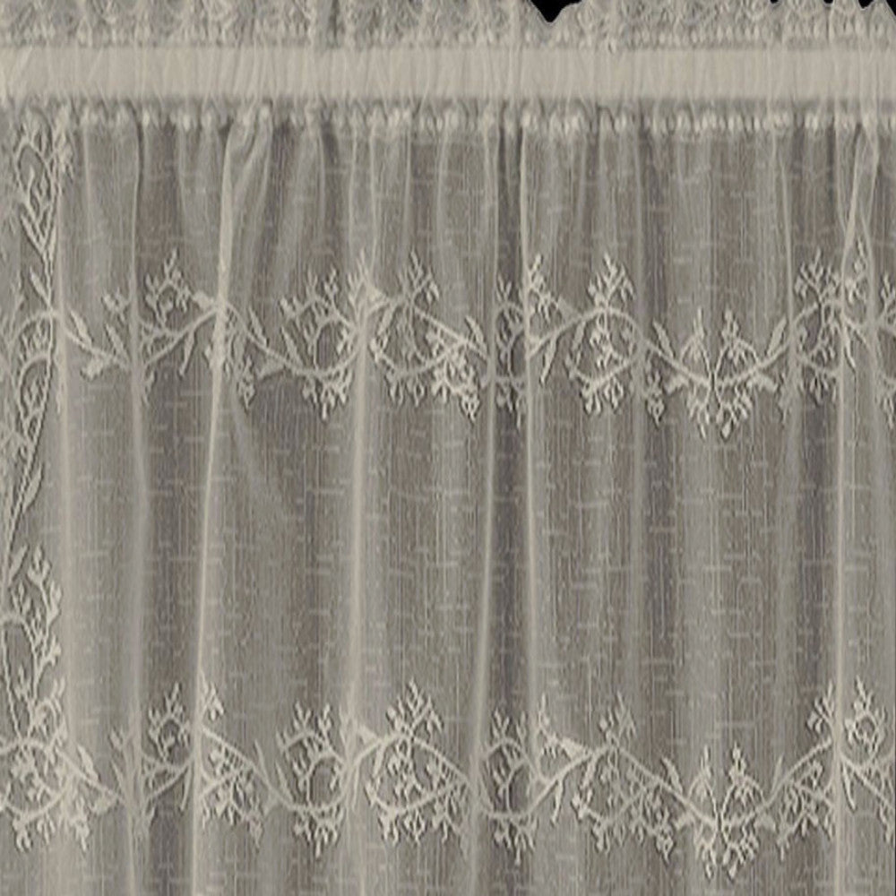 Sheer Divine Lace  Tier And Valance Ecru