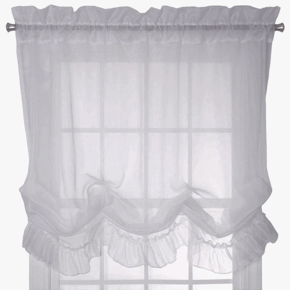 Sheer Priscilla Balloon Shade