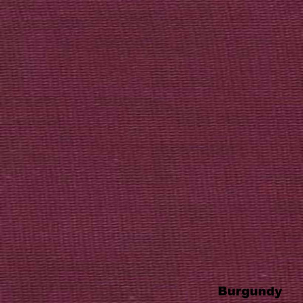 Closeup of Burgundy Voile Sheer Curtains and Scarf fabric