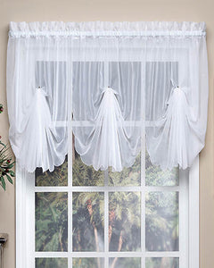 Sheer Voile Fan Valance