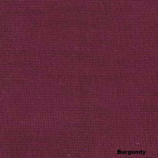 Closeup of Burgundy Sheer Voile Kitchen Valance, Swags and Tier Curtains fabric