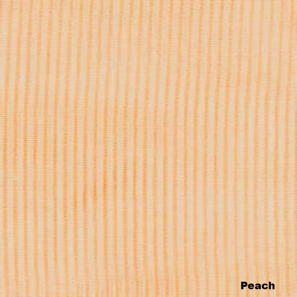 Closeup of Peach Sheer Voile Kitchen Valance, Swags and Tier Curtains fabric