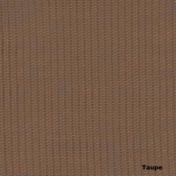 Closeup of Taupe Sheer Voile Kitchen Valance, Swags and Tier Curtains fabric