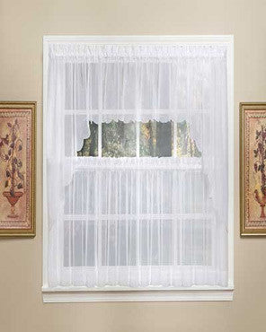 Sheer Voile Tier, Valance & Swag Pair