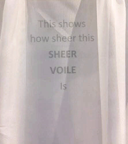 Demonstration of Voile Pinch Pleated Panel Pair Sheer Curtains