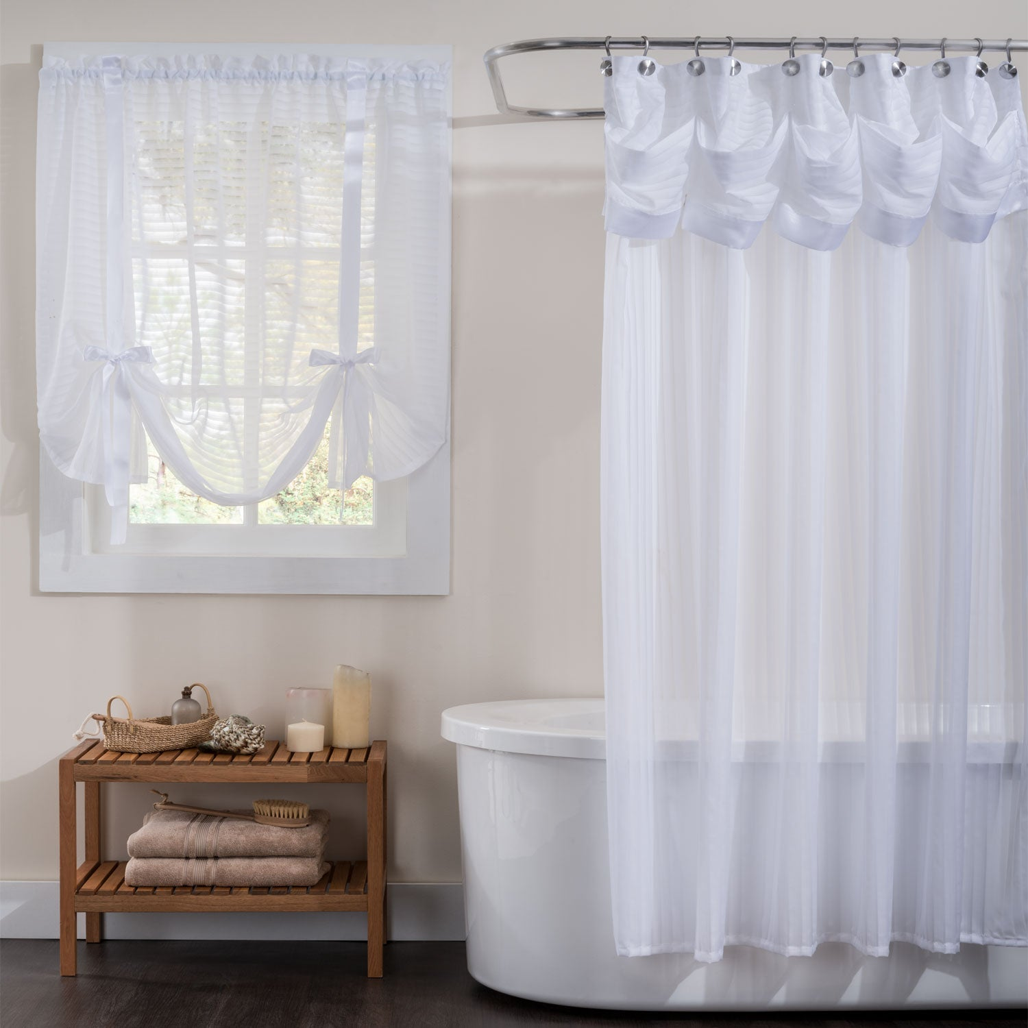 Silhouette Semi Sheer Shower Curtain