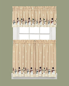 Snowman-Magic- Kitchen- Tier- and -Valance