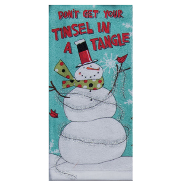 Snowman Sentiments Kitchen Towel Set kitchen towel