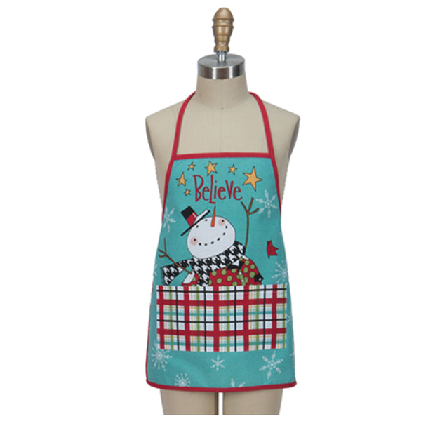 Snowman Sentiments Child and Hostess Apron child apron