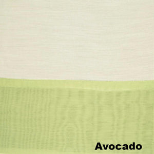 Up close shot of Avocado Somerset Batiste Grommet Top Panel fabric