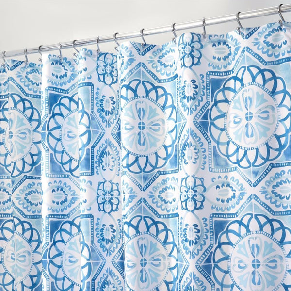Spanish Tile Fabric Shower Curtain Liner – Curtainshop.com