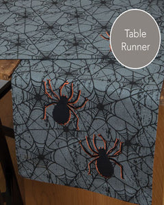 Spider Web Glitter Table Runner