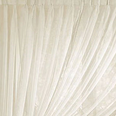 Splendor- Batiste- Pinch- Pleated-Panel- Pair-Ecru