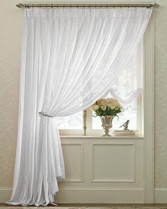 Splendor- Batiste- Pinch- Pleated-Curtain-Panel- Pair