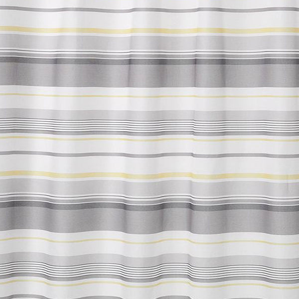 Close up shot of Multi Spring Garden Stripe Fabric Shower Curtain fabric