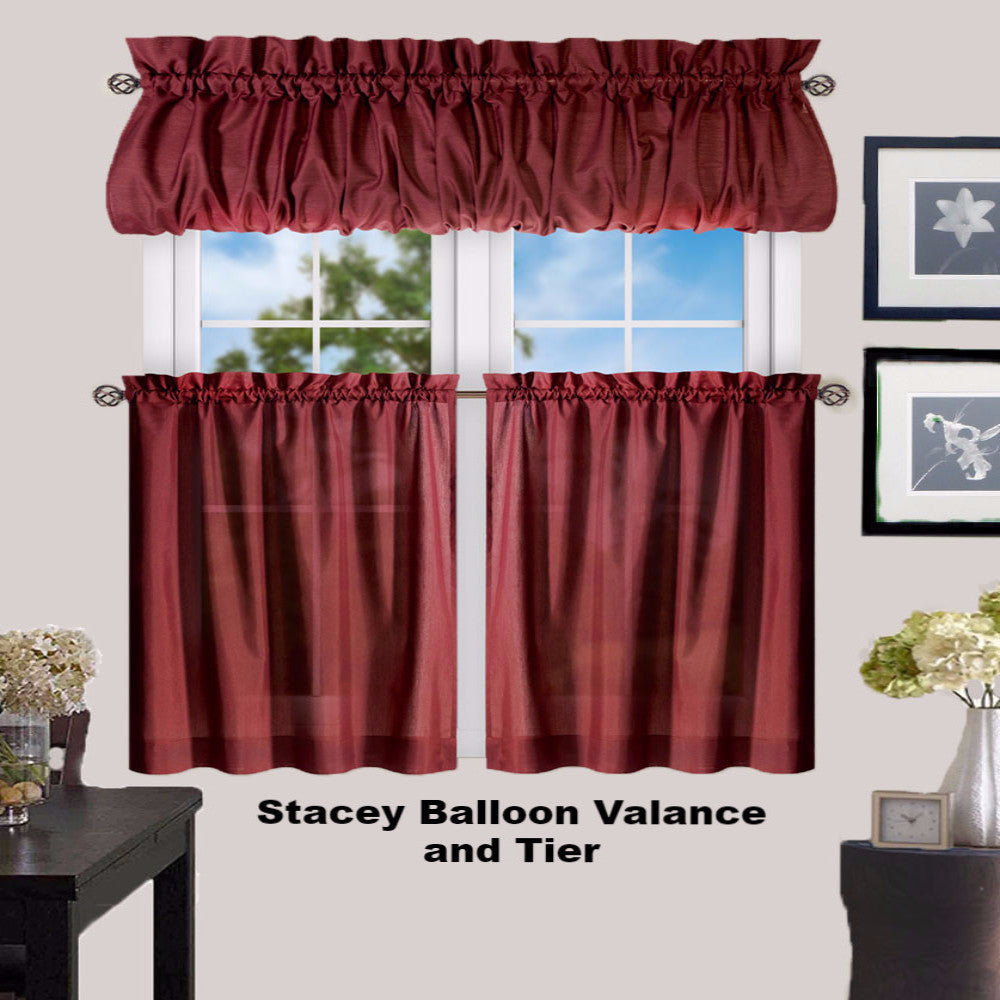 Stacey Kitchen Valance, Ruffled Swags, And Tier Curtain
