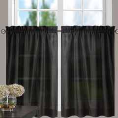 Stacey-Tier, Ruffled-Valance- and-Ruffled Swag-Black