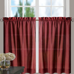 Stacey-Tier, Ruffled-Valance- and-Ruffled Swag-Merlot