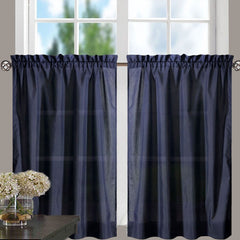 Stacey-Tier, Ruffled-Valance- and-Ruffled Swag-Navy