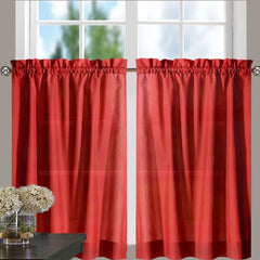 Stacey-Tier, Ruffled-Valance- and-Ruffled Swag-Red