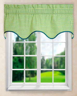 Strobe Wave Valance hanging on a curtain rod