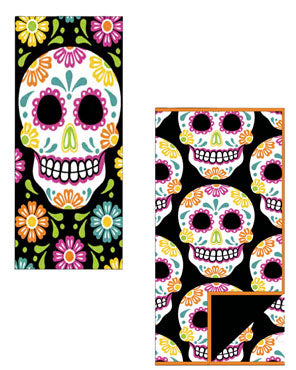 Sugar Skull Kitchen Towel and Reversible Drying Mat