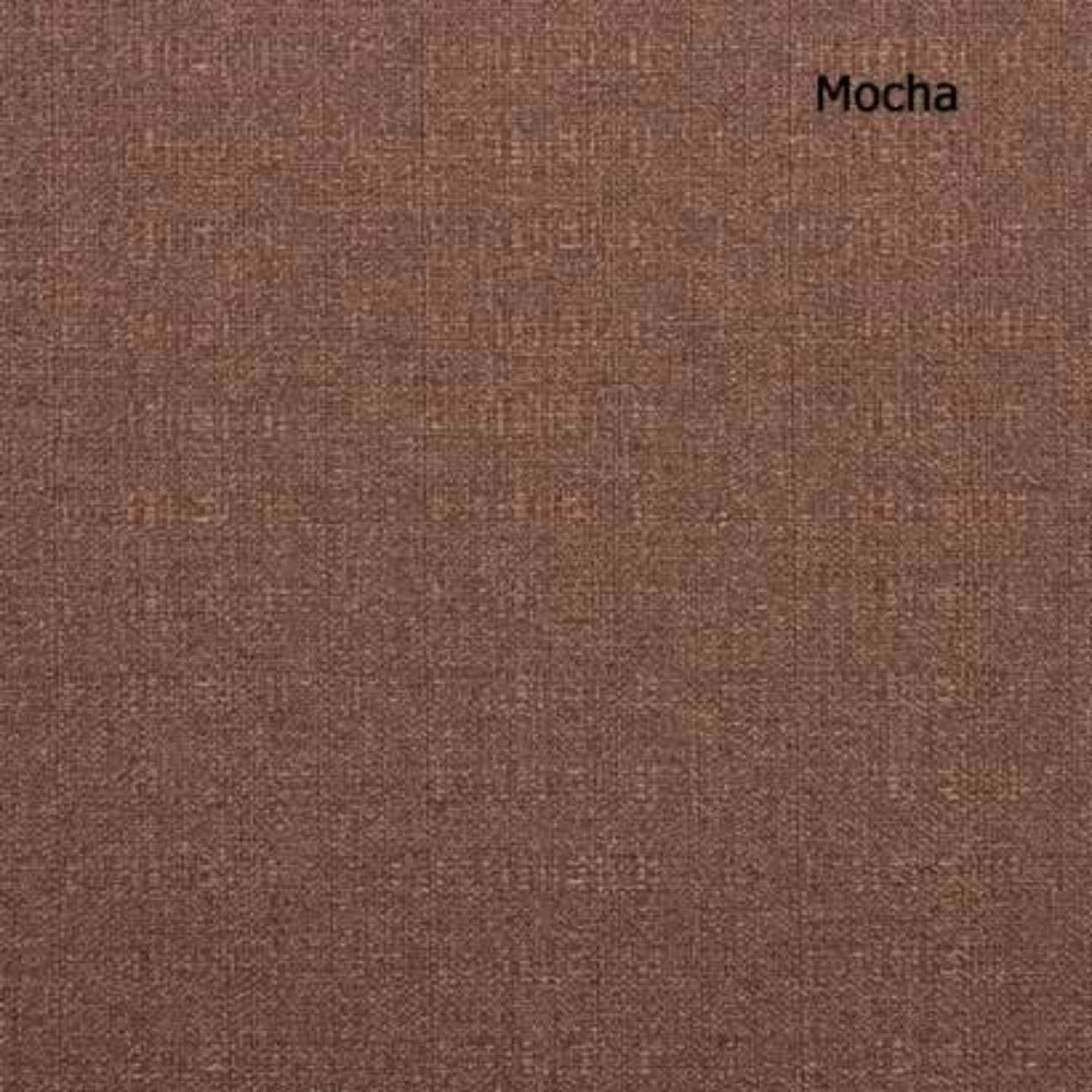 up close shot of mocha Suite Flame Retardant Back Tab Panel fabric