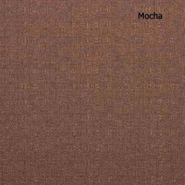 Up close shot of Mocha Suite Rod Pocket Fire Retardant Curtain