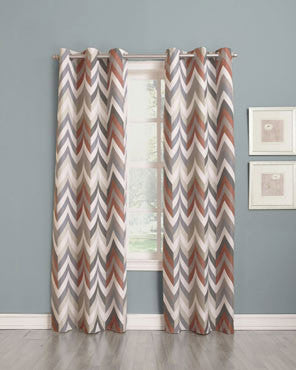 Sun-Zero- Chevron-Thermal-Lined- Grommet Top- Panel