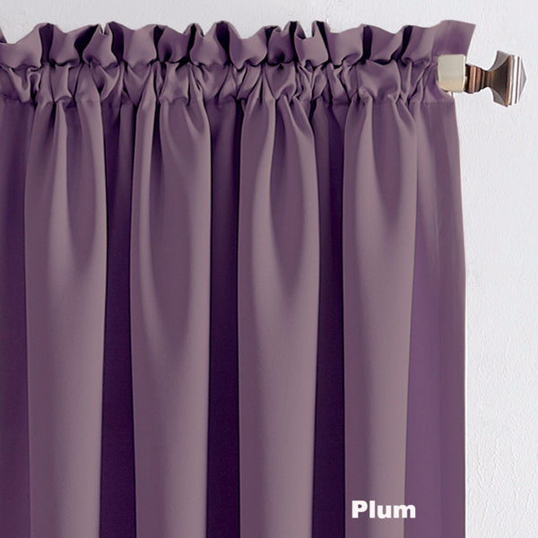 Close up Plum Sun Zero Julian Room Darkening Panel Fabric