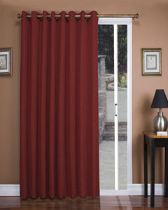 Floral Rose Tacoma Double Blackout Grommet Top Patio Panel Hanging On A  Decorative Curtain Rod