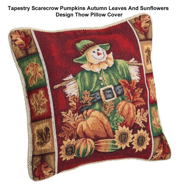 Tapestry-Scarecrow-Pumpkins-Autumn-Leaves-And-Sunflowers-Design-Throw-Pillow-Cover