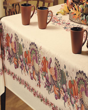 Thanksgiving Printed Fabric Tablecloth