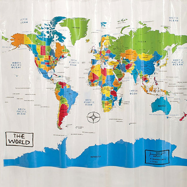 The World Peva Vinyl Shower Curtain