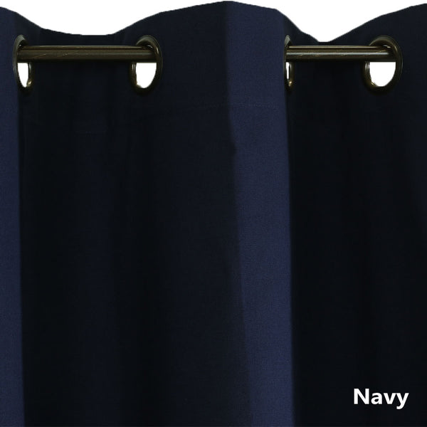 Closeup of navy Weathermate ThermaLogic Insulated Grommet Top Panel Pairs fabric and grommets