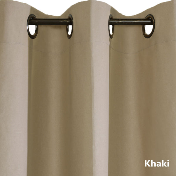 Closeup of khaki Weathermate ThermaLogic Insulated Grommet Top Panel Pairs fabric and grommets