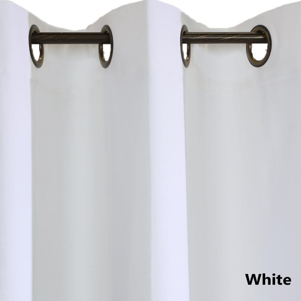 Closeup of whiteWeathermate ThermaLogic Insulated Grommet Top Panel Pairs fabric and grommets