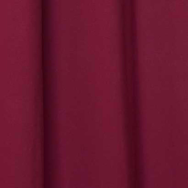 Closeup of burgundy Thermalogic Weathermate Tie-Up Shade fabric
