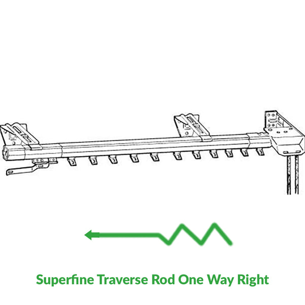 Superfine Traverse Rod One Way Draw