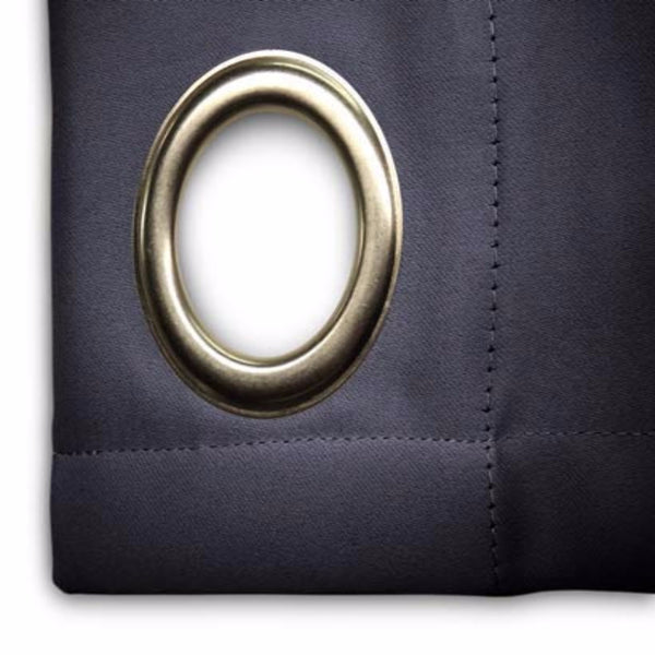 Closeup of navy blue Ultimate Blackout Grommet Top Patio Panel fabric
