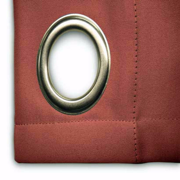Closeup of Garnet Ultimate Blackout Grommet Top Patio Panel fabric